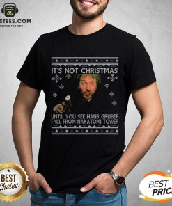 Official It's Not Xmas Until Hans Gruber Falls From Nakatomi Plaza Shirt - Design By Earstees.com