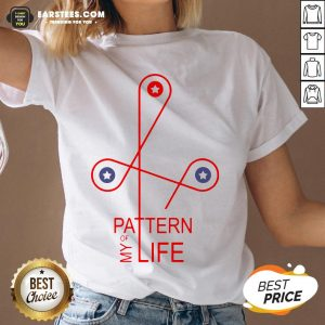 Official Pattern Of My Life V-neck - Design By Earstees.com
