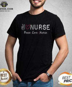 Official Peace Love Nurse Shirt - Design By Earstees.com