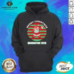 Official Santa Claus Dabbing Face Mask Merry Christmas Quarantine 2020 Vintage Hoodie - Design By Earstees.com