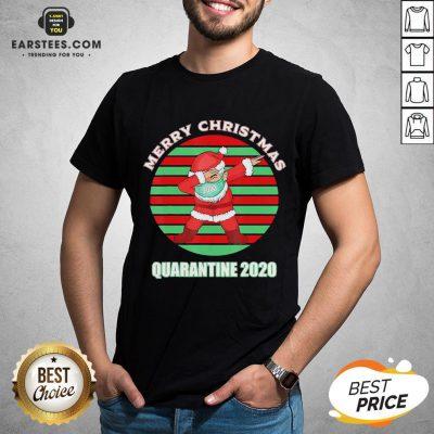 Official Santa Claus Dabbing Face Mask Merry Christmas Quarantine 2020 Vintage Shirt - Design By Earstees.com