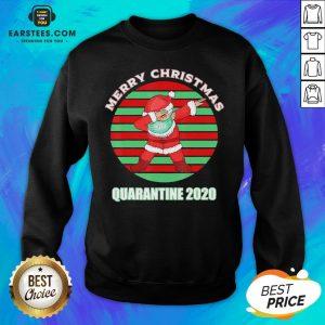 Official Santa Claus Dabbing Face Mask Merry Christmas Quarantine 2020 Vintage Sweatshirt - Design By Earstees.com