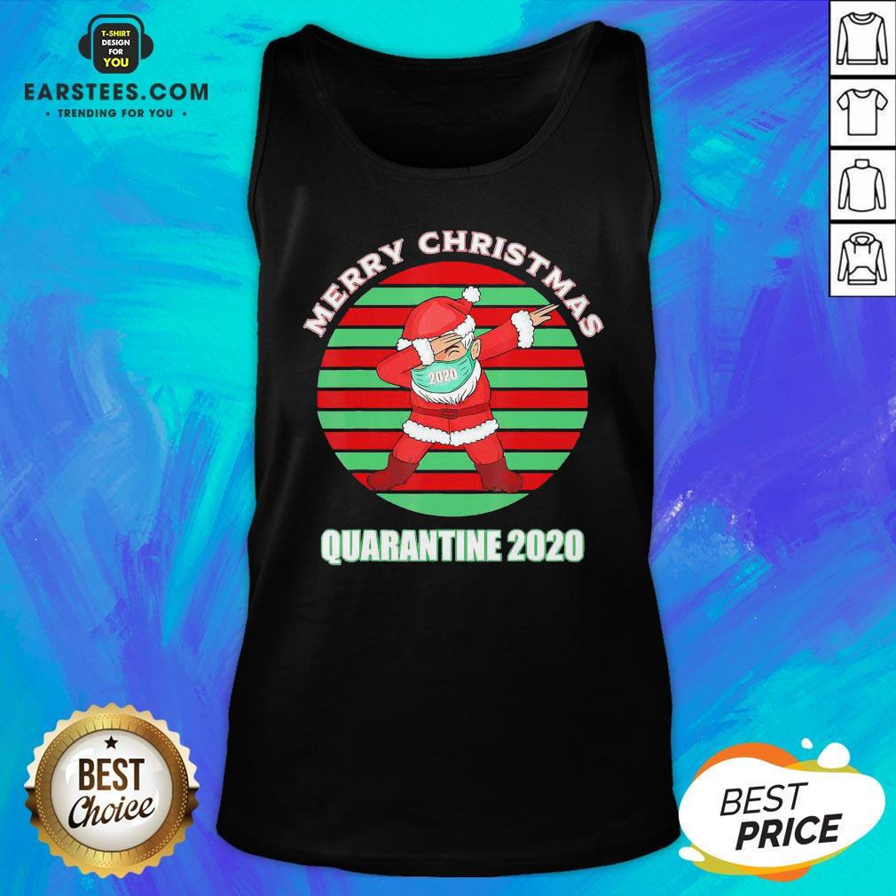 Official Santa Claus Dabbing Face Mask Merry Christmas Quarantine 2020 Vintage Tank Top - Design By Earstees.com