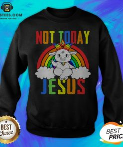 Official Unicorn Satan Not Today Jesus LGBT Sweatshirt
