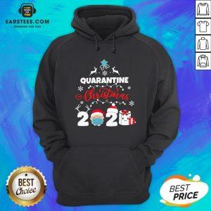 Official Xmas Quarantine Christmas 2020 Social Distancing Christmas Hoodie - Design By Earstees.com