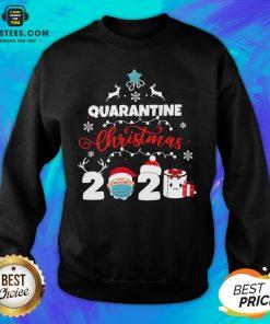Official Xmas Quarantine Christmas 2020 Social Distancing Christmas Sweatshirt - Design By Earstees.com