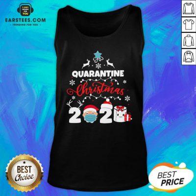 Official Xmas Quarantine Christmas 2020 Social Distancing Christmas Tank Top - Design By Earstees.com