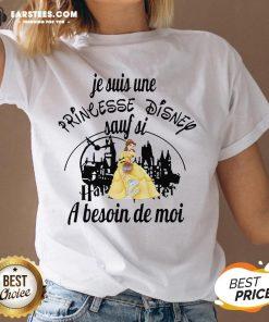 Original Belle Je Suis Une Princesse Disney Sauf Si Harry Potter A Besoin De Moi V-neck - Design By Earstees.com