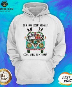 Original Boston Terrier And Hipper Girl On A Dark Desert Highway Cool Wind In My Hair Hoodie - Design By Earstees.com