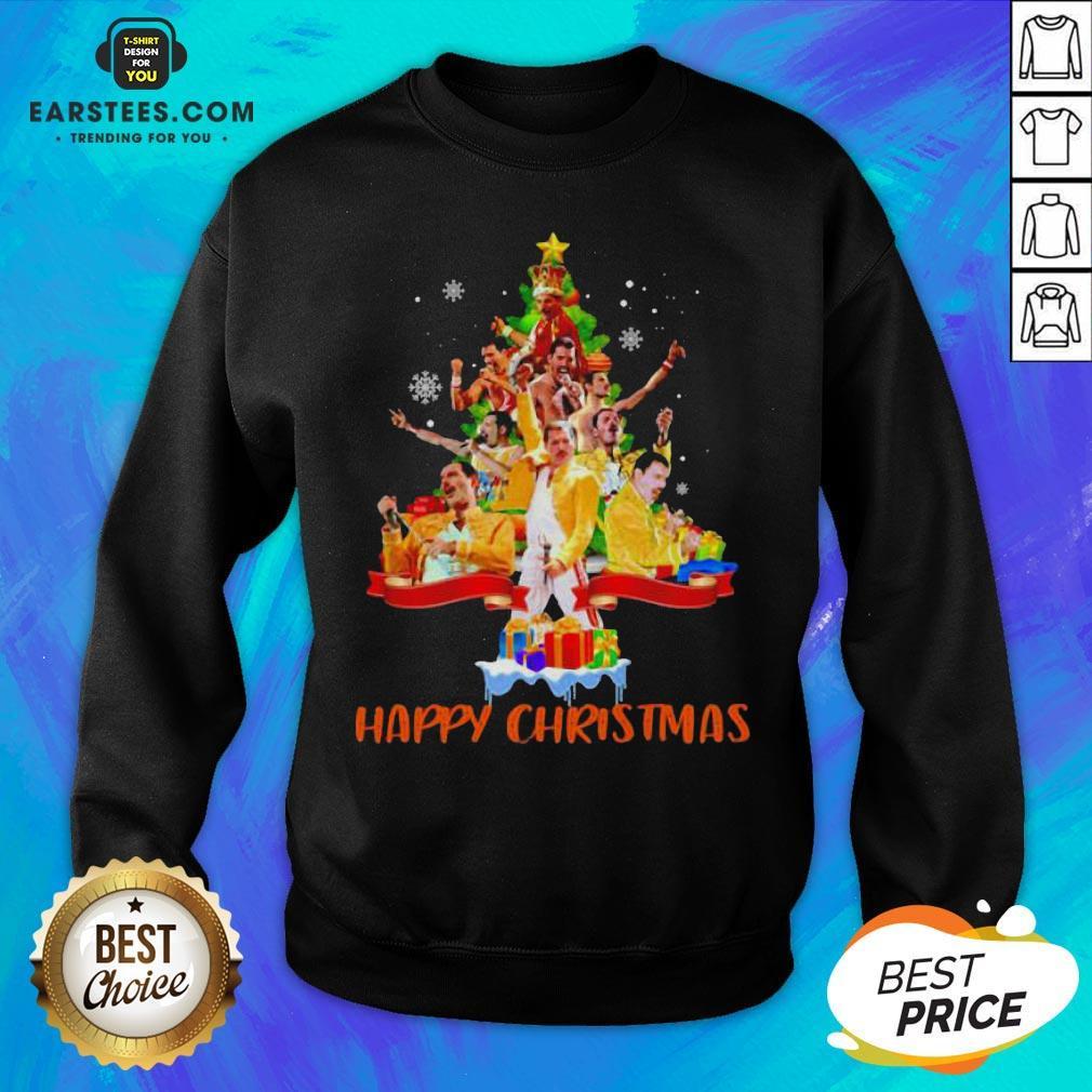 Original Freddie Mercury Happy Christmas Tree Sweatshirt - Design By Earstees.com