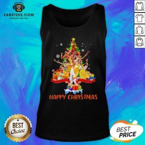 Original Freddie Mercury Happy Christmas Tree Tank Top - Design By Earstees.com