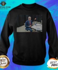 Original Joe Biden With The Fly Sweatshirt - Design By Earstees.com