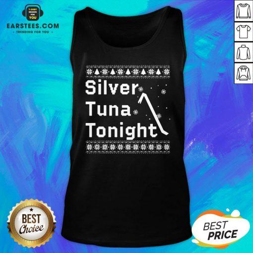 Original Silver Tuna Tonight Christmas Tank Top - Design By Earstees.com
