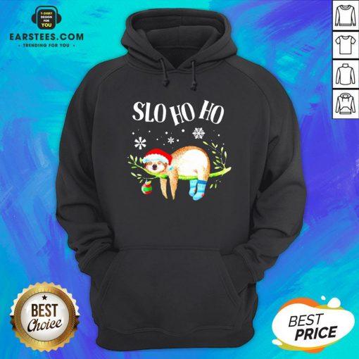 Original Sloth Slo Ho Ho Christmas 2020 Hoodie - Design By Earstees.com