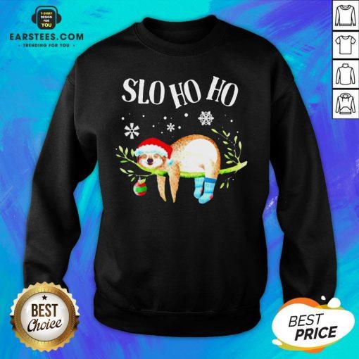 Original Sloth Slo Ho Ho Christmas 2020 Sweatshirt - Design By Earstees.com