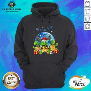 Original Turtles Reindeer Santa Merry Christmas Hoodie - Design By Earstees.com