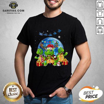 Original Turtles Reindeer Santa Merry Christmas Shirt - Design By Earstees.com