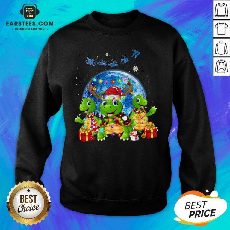Original Turtles Reindeer Santa Merry Christmas Sweatshirt - Design By Earstees.com