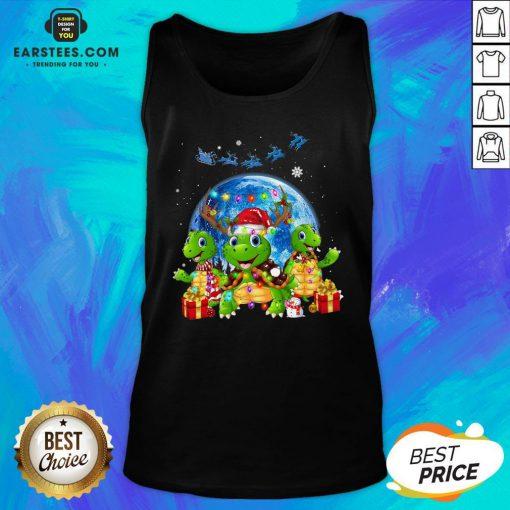 Original Turtles Reindeer Santa Merry Christmas Tank Top - Design By Earstees.com