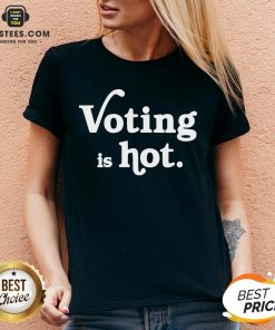 Original Voting Is Hot Classic V-neck - Design By Earstees.com