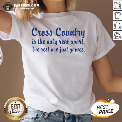 Perfect Cross Country Running Is The Only Real Sport The Rest Are Just Games V-neck - Design By Earstees.com