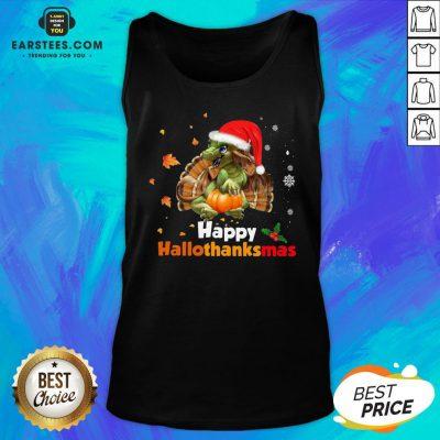 Perfect Dragon Happy Hallothanksmas Tank Top - Design By Earstees.com