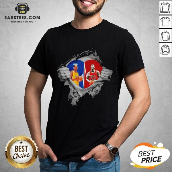 Perfect Heart Kobe Bryant And Michael Jordan Shirt - Design By Earstees.com