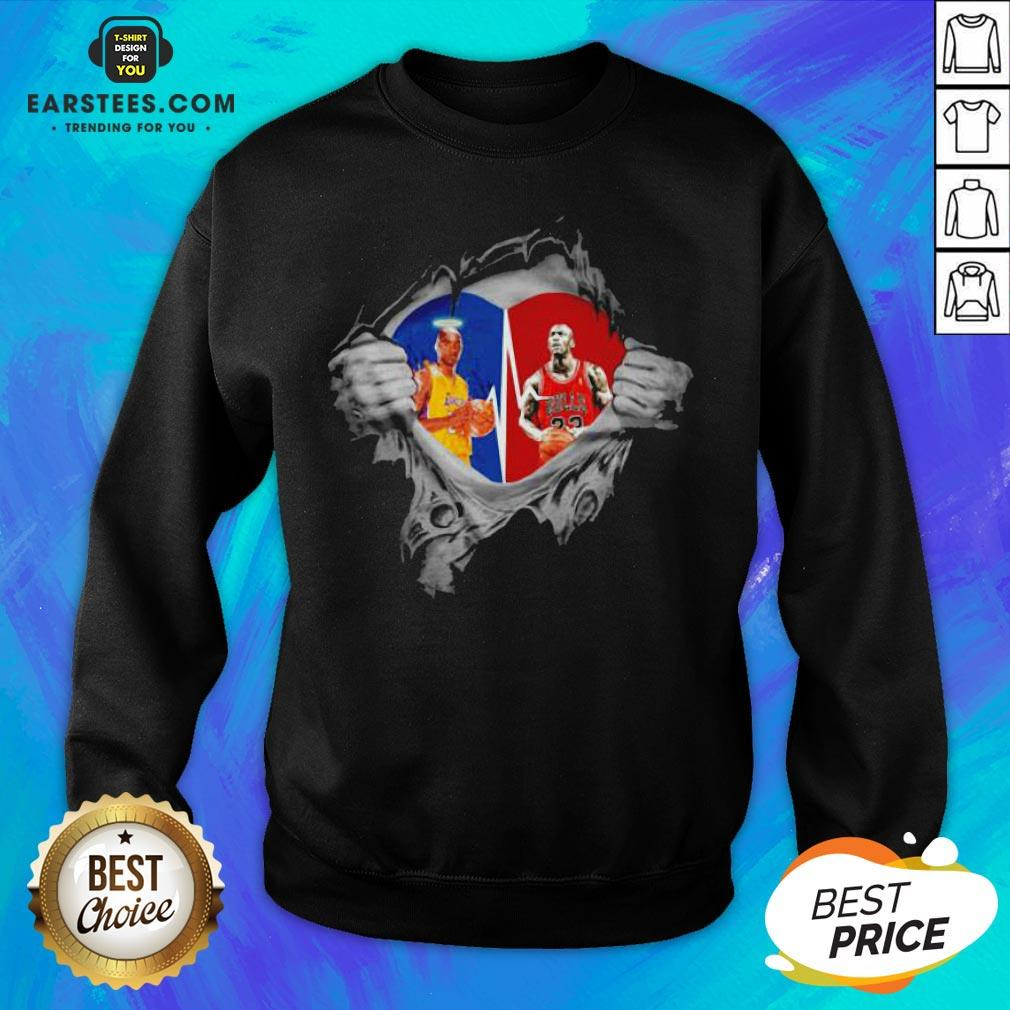 Perfect Heart Kobe Bryant And Michael Jordan Sweatshirt - Design By Earstees.com