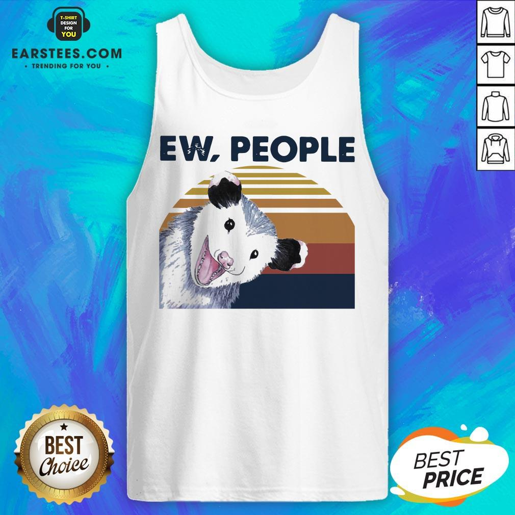 Perfect Vintage Ew People Possum Classic Tank Top- Design By Earstees.com