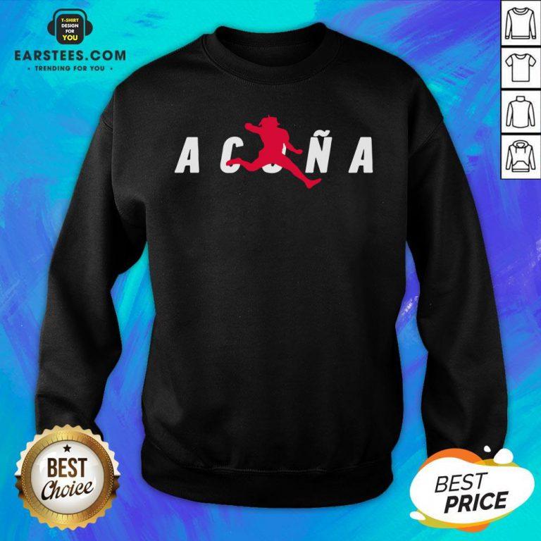 Premium Air Acuña Sweatshirt - Design By Earstees.com