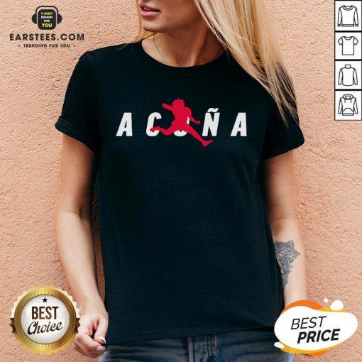 Premium Air Acuña V-neck - Design By Earstees.com
