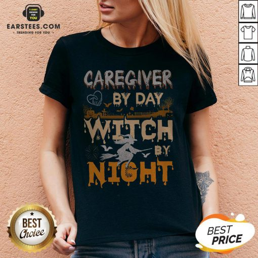Premium Caregiver By Day Witch By Night V-neck