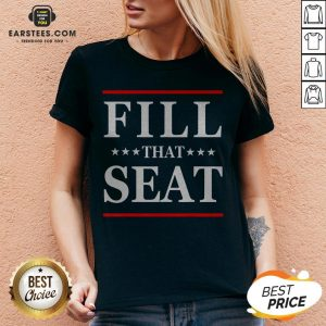 Premium Fill That Seat V-neck- Design By Earstees.com