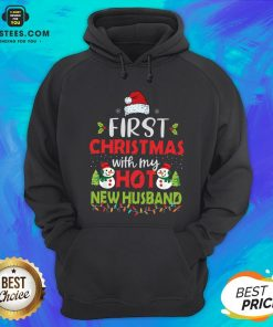 Premium First Christmas With My Hot New Husband Hoodie - Design By Earstees.com