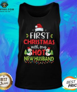 Premium First Christmas With My Hot New Husband Tank Top - Design By Earstees.com