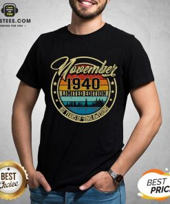 Premium November 1940 80 Year Old 80 Quarantine Birthday T-Shirt - Design By Earstees.com