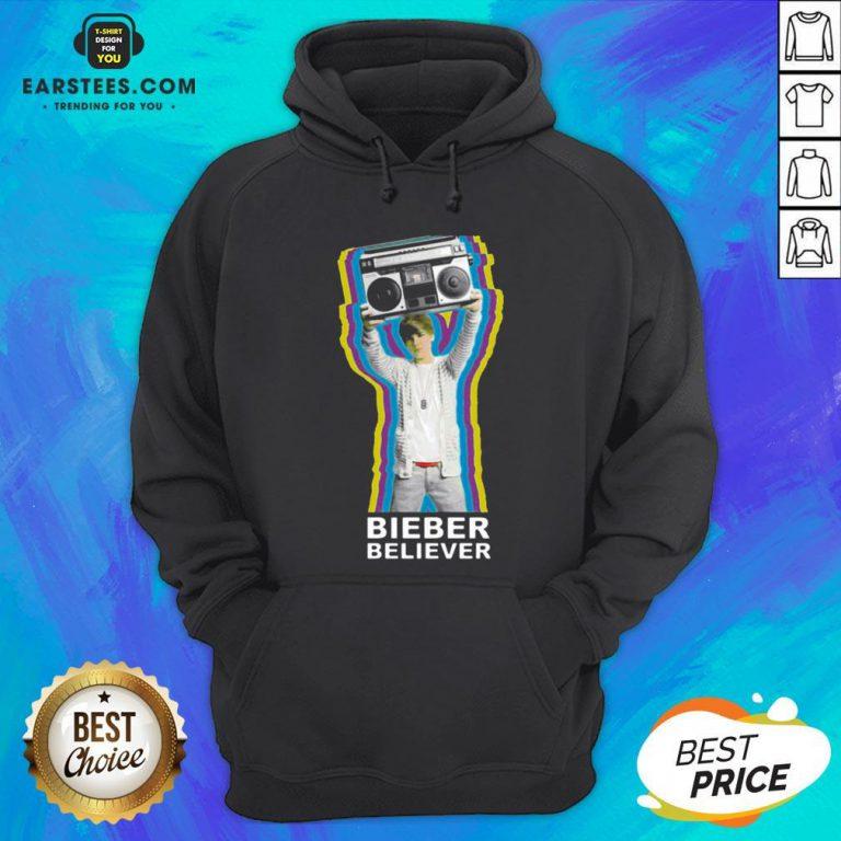 Pretty Bieber Believer Merch Boombox 2020 Hoodie - Design By Earstees.com