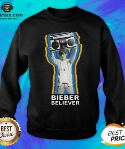 Pretty Bieber Believer Merch Boombox 2020 Sweatshirt - Design By Earstees.com