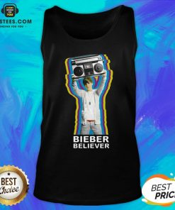 Pretty Bieber Believer Merch Boombox 2020 Tank Top - Design By Earstees.com