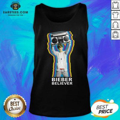 Pretty Bieber Believer Merch Boombox 2020 Tank Top - Design By Earstees.com