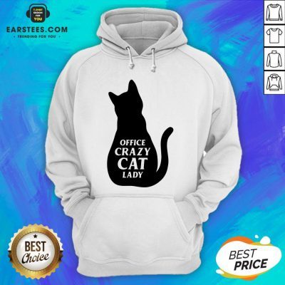 Pretty Black Cat Office Crazy Cat Lady Hoodie - Design By Earstees.com