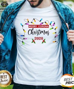 Pretty Light Merry Corona Christmas 2020 Shirt - Design By Earstees.com