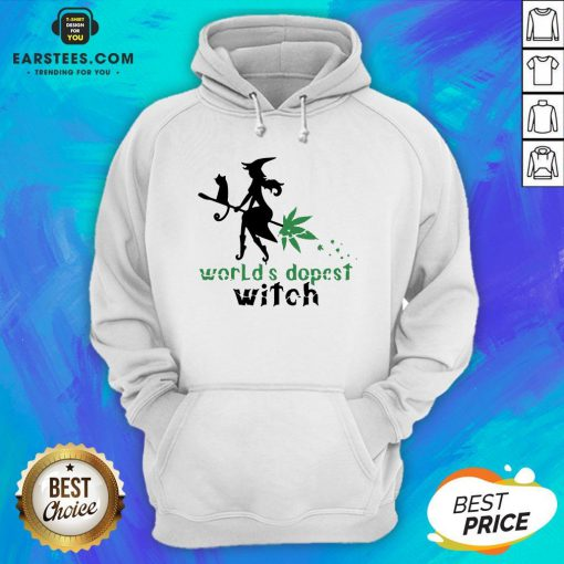 Pretty Weed Worlds Dopest Witch Hoodie - Design By Earstees.com