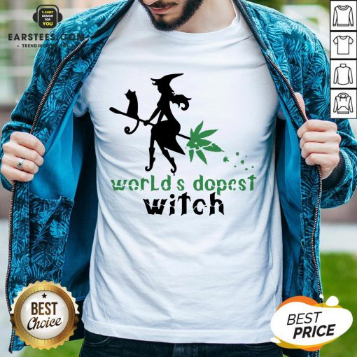 Pretty Weed Worlds Dopest Witch Shirt - Design By Earstees.com