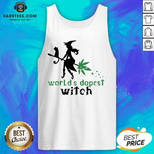 Pretty Weed Worlds Dopest Witch Tank Top - Design By Earstees.com
