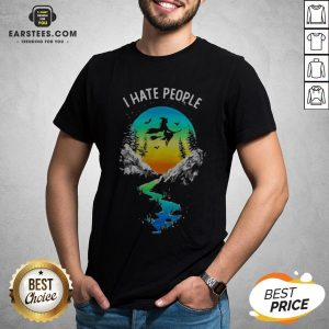 Pretty Witch Go Camping I Hate People Shirt