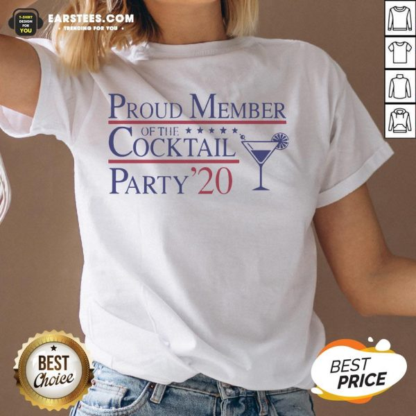 Proud Member Of The Cocktail Party 2020 V-neck - Design By Earstees.com
