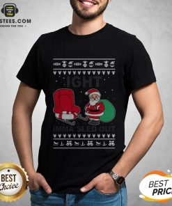 Santa Claus Ight Imma Sled Out Christmas Shirt - Design By Earstees.com