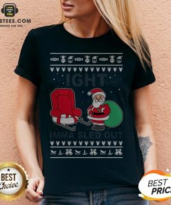 Santa Claus Ight Imma Sled Out Christmas V-neck - Design By Earstees.com