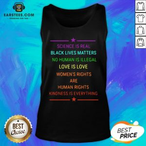 Science Is Real Kindness Is Everything Rainbow Pride Official Tank Top - Design By Earstees.com